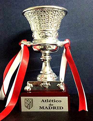 Trofeo SuperCopa Atletico de Madrid Replica 15cm GRABADO Trofeos PERSONALIZADOS Futbol coleccionistas SuperCopa de España Titulos Atletico de Madrid Super Copa Atletico de Madrid