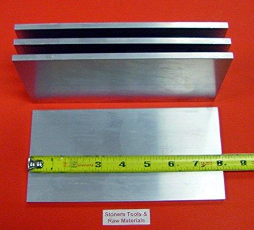 "4 Pieces 3/8"" X 6"" ALUMINUM 6061 FLAT BAR 8"" long .375"" Plate Mill Stock T6511"