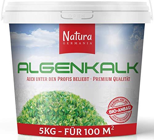 Natura Germania Algenkalk Pulver, 100{7fed8389018ff00676c49b749a8990971011995a1983e6e55d6fd6b877da4b90} reines Premium Algenkalk, Regeneriert und Stärk Buchsbäume - Buchsbaumdünger (5 KG)