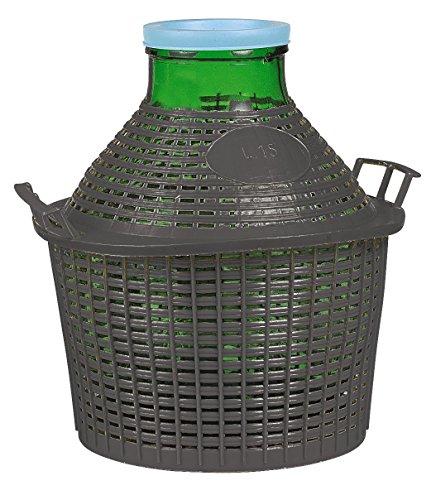 Korken, jocondienne GC15Korbflasche mit Entourage Plast Grand Kragen Glas transparent 37x 37x 40cm 15l