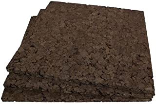 Brown Cork Squares - 12 Inch X 12 Inch X 1 Inch Thick - 3 Pack