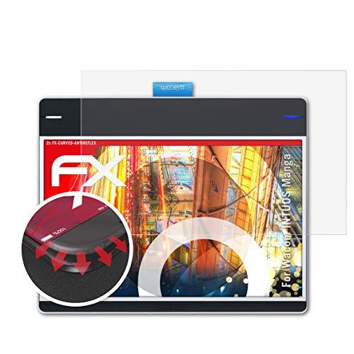 atFoliX Anti-Casse Protecteur d'écran Compatible avec Wacom INTUOS Manga Anti-Choc Film Protecteur, antireflet et Flexible FX Protecteur d'écran (2X)