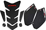 REVSOSTAR Real Carbon Look, Protector Pad, Tank Pad Decal Stickers, Tank Side Traction Pad, Anti Slip sticker, Traction Side, Fuel Knee Grip Decal for CBR 600RR 2003-2006