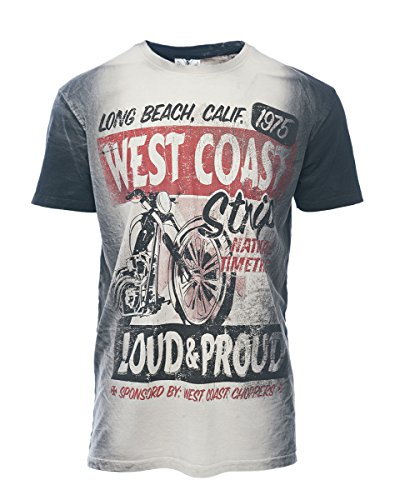 WCC West Coast Choppers T-Shirt The Strip Washed Black-M