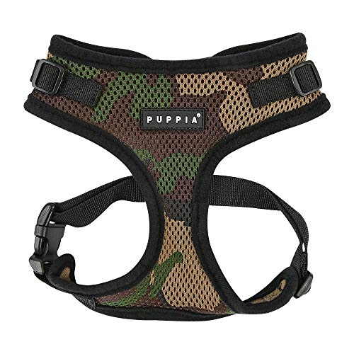 Puppia Authentic Puppia Ritefit Harness With Adjustable Neck, Camo, Small