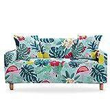 WXQY Funda de sofá elástica de Hoja Tropical Funda de sofá de Esquina en Forma de L Funda Protectora Funda de sillón de Sala de Estar A1 3 plazas