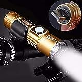 Luz de bicicleta, luces de bicicleta, lúmenes, USB, recargable, mini luz de bicicleta, súper brillante, linterna con zoom, resistente al agua, accesorios de bicicleta