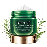 Acne Treatment Cream, BREYLEE Tea Tree Oil Acne Cream for Clearing Severe Acne, Breakout, Remove Pimple and Repair Skin (20ml,0.7oz)