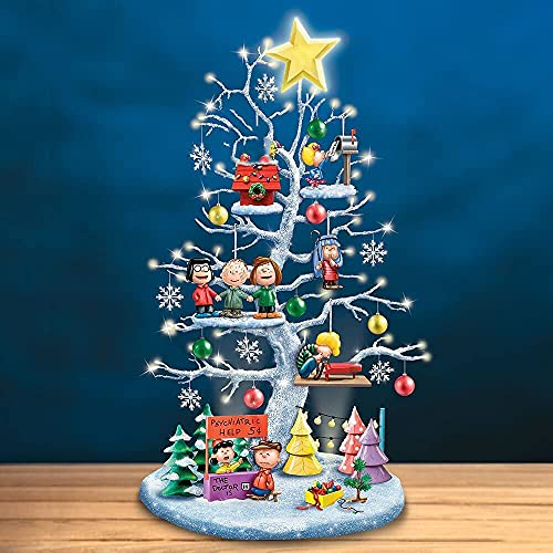 Illuminated Halloween Tree, Christmas Tree and Halloween Tree It's The Great Pumpkin Illuminated Halloween Tree, Creative Pumpkin Resin Led Light for Christmas Party Pendant Decor (Christmas Tree)