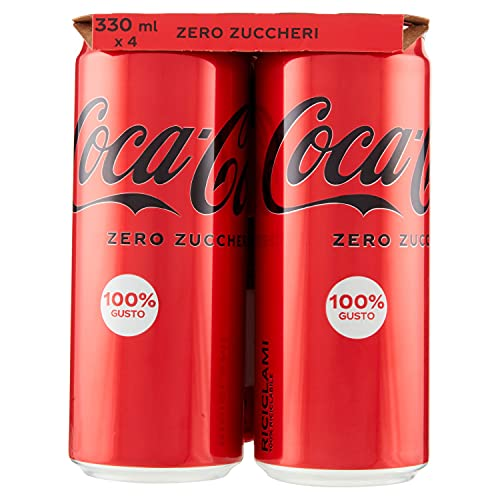 COCA-COLA ZERO 330 ml - 4 lattine