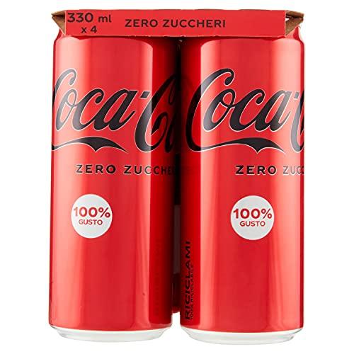 Coca-Cola Zero Zuccheri, Lattine - confezione da 4 x 330 ml