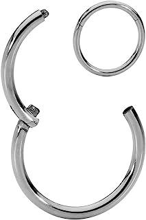 365 Sleepers Piercing de titanio G23 de 20 G, 18 G, 16 G, 14 G, 12 G, 10 G, 8 G, anillo de segmento sin costuras, se vende...
