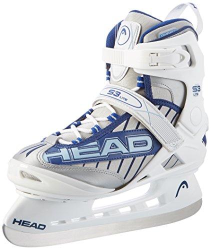 HEAD - Damen Schlittschuhe S3 Lite I Eislaufen I komfortables Fußbett & Knöchelpolster I wasserabweisende Schlittschuhe für Frauen mit Edelstahlkufe I ideal für Einsteigerinnen I kältebeständig - Weiß