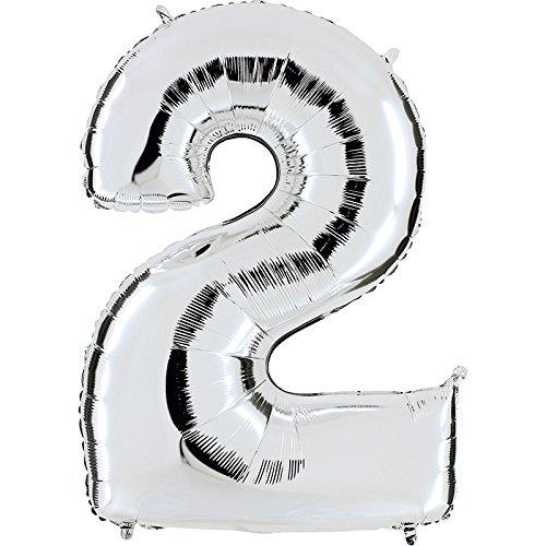 PartyMarty Riesenzahl #2 Silber
