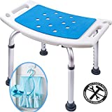 Medokare Shower Stool with Padded Seat - Shower Seat for...
