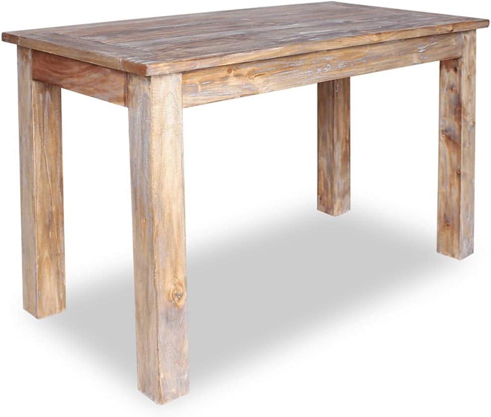 vidaXL Solid Reclaimed Wood Dining Table 47.2