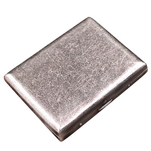 CaLeQi High-Grade Gebürstete Kupfer Zigarettenetui hält 20 Zigaretten. (Mit Marken-Geschenk-Box) (Kupfer)