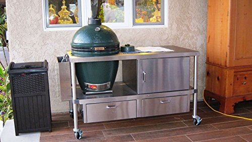 Castle Stove Stainless Big Green Egg Table (Big...