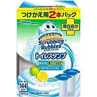 【ジョンソン】スクラビングバブル トイレスタンプ 漂白成分プラス ホワイティーシトラスの香り つけかえ用 2本パック ×5個セット
