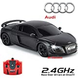 Audi R8 GT, Official Remote Control with Work Lights, Radio Controlled on Road RC 1:24, 2.4 GHz Race - Matte Black