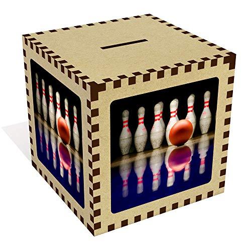 Groß 'Bowlingkugel und Stifte' Sparbüchse / Spardose (MB00000668)