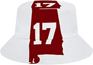 Alabama 17 Champions for Both Men and Women, Outdoor Sun Protection Wide-Brimmed Bucket hat Waterproof Breathable hat Hunting Fisherman's hat can be Packaged