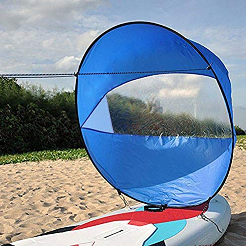 CHENLIGHT 42 inches Kayak Wind Zeil, Opvouwbare Popup Board Paddle Downwind Zeilset voor kajaks