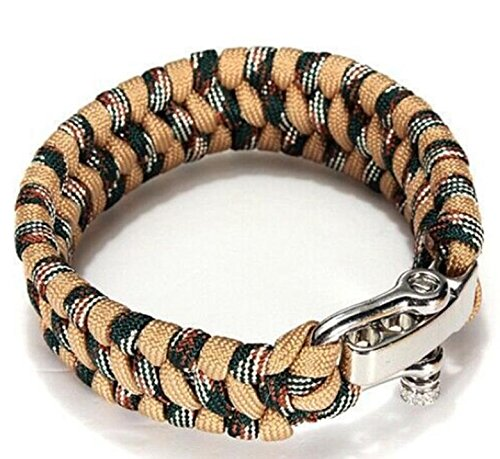 Parachute cordon Bracelet/bracelets de survie/Camping, double color camouflage