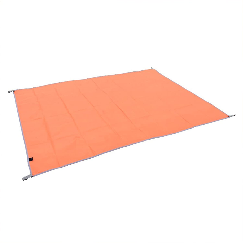 Outdoor Picnic Blanket Tent Mat Large Oxford Moisture Pads Picnic Mat Waterproof Sunshade Dining orange 200  200 cm