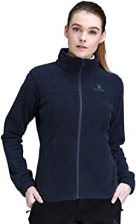 Women Full Zip Fleece Jacket with Pockets Warm Fall...
