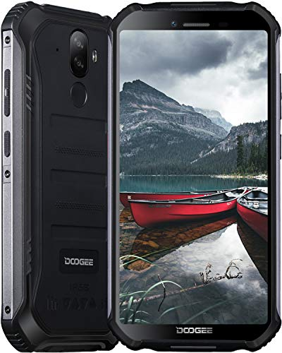 Doogee S40 Pro Rugged Smartphone, wasserdicht, Android 10, 4G Dual SIM, 4 GB + 64 GB, 13,8 cm HD+ Bildschirm, 13 MP + 5 MP Kamera, 4650 mAh Akku, NFC/GPS, UK-Version, Schwarz