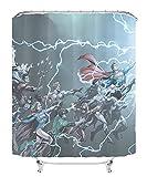 YITUOMO Nationalheld Batman Duschvorhang Polyesterfaser 3D Badvorhang wasserdichter Schimmel Vorhang Anime Charaktere 150x180cm