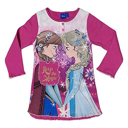 NADA HOME Frozen Die Eiskönigin Nachthemd Fuchsia (7 Jahre)