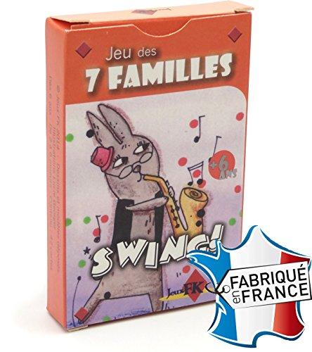 Jeu de 42 cartes : 7 familles Swing