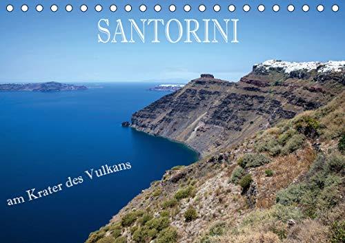 Santorini - Am Krater des Vulkans (Tischkalender 2021 DIN A5 quer)