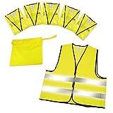 BP GmbH Chalecos Reflectantes (5Unidades, en Estuche según EN ISO 20471homologación Chaleco Reflectante de neón Amarillo tamaño XXL con Reflector Rayas