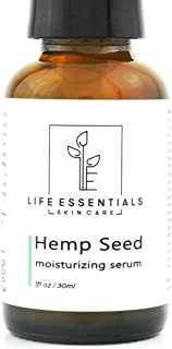 Hemp Seed Moisturizing Facial Serum - Reduce Fine Lines, Wrinkles, Acne - Soothes Inflammation & Moderates Oil Production - Made with Pure Hemp Seed Oil