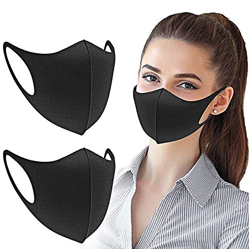 Pansonite Unisex 3pcs Anti Pollution Dust Mask 3D Face Mouth Mask Washable and Reusable Mask for Cycling Camping