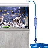 Laelr Nettoyeur d'aquarium Changement d'eau, de sable Filtre à gravier Siphon Pompe aspirante avec débit d'eau de nettoyage réglable et valve de sortie, airbag intégré
