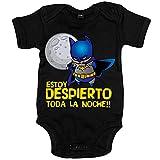 Body bebé hombre murciélago Estoy despierto toda la noche - Negro, 6-12 meses