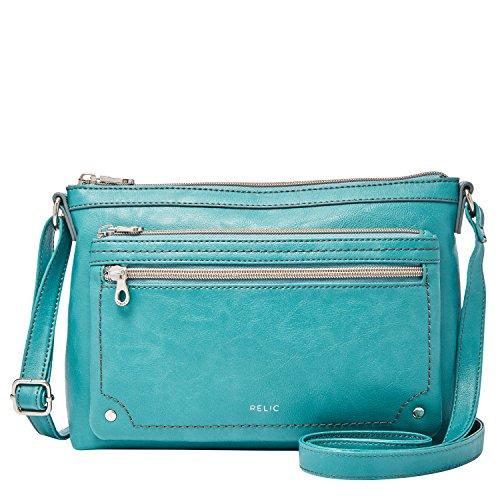 Relic by Fossil Women's Evie Crossbody Handbag, Color: Alpine Green Model: (RLH8500307)