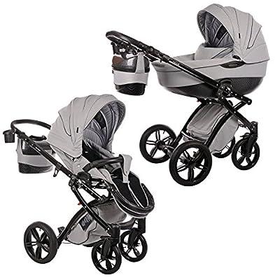 Knorr-baby Alive Be Carbon - Cochecito combi para bebé, color gris y negro