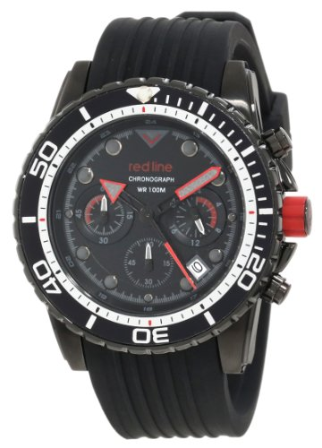 red line Caballero RL-50034-BB-01 Piston Cronografo Black Dial Reloj