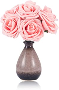Yanqueens Roses Artificial Flowers - 50Pcs Foam Roses for DIY Wedding Bouquets Centerpieces Artificial Flower Bridal Shower Party Home Decorations