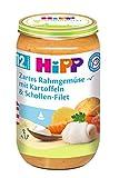 HiPP Zartes Rahmgemüse mit Kartoffeln und Schollen-Filet, 6er Pack (6 x 250 g)