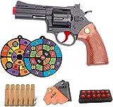 FREEJEVI Classic Soft Bullet Toy Gun Revolver, Throw EVA Sponge Bullet, Dardos Shock Wave - Tamaño 1: 1 Marco de aleación Soft Bullet Gun, Pistolas de Juguete para niños