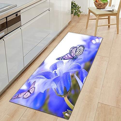 Alfombra de Cocina Felpudo de Entrada Hogar Sala de Estar Dormitorio Alfombra para niños Pasillo Balcón Baño Alfombra Larga A24 40x60cm