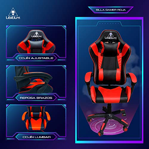 Silla Gamer Gaming Calidad Premium Reforzada Hasta 120Kg Video Juegos Gaming Reclinable Cómoda Consolas Pc Juegos Alien Computadora Ergonomica Respaldo Alto Silla de PC...