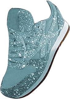 ORANDESIGNE Donna Scarpe da Ginnastica Corsa Sportive Running Fitness Sneakers con Paillettes Casual all'Aperto Leggero e ...