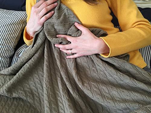 Luxus Weiche & Warme 100% Kaschmir Decke - Made in Italy